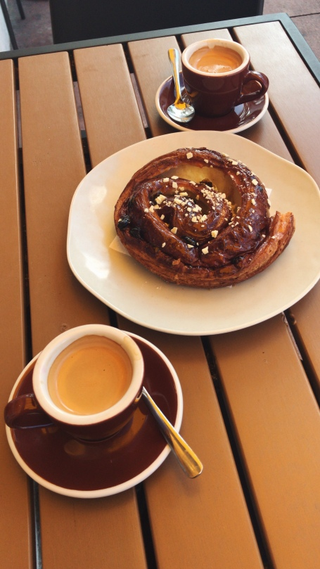 Cafe Cubano and Raisin Pastry