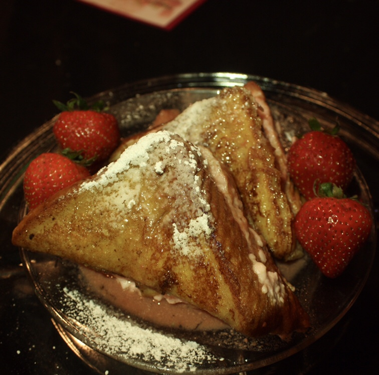 Vodka Infused Strawberry French Toast